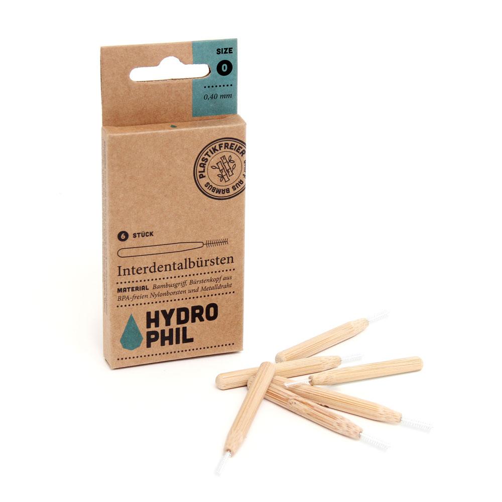"""картинка Hydrophil Набор натуральных межзубных щеток из бамбука от интернет-магазина натуральной косметики и парфюмерии """"Большое Дерево"""""""